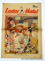 1947 március 28  /  Ludas Matyi  /  Régi ÚJSÁGOK KÉPREGÉNYEK MAGAZINOK Szs.:  8677