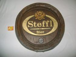 Retro STEFFL sör reklám - 49 cm - falra akasztható