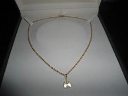 Arany 14k  nyaklánc medállal  3.8 gr