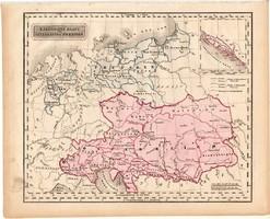 Ausztria - Magyarország és Poroszország térkép 1840 (2), német ny., atlasz, eredeti, Pesth, 23x29 cm