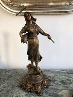 Antik Szecessziós Női Szobor