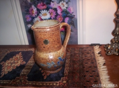 Kézműves kerámia kancsó, váza
