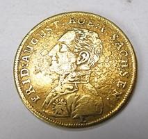 Németország, Szászország, I. Frigyes Ágost token 1814