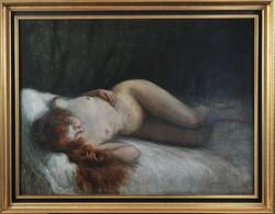 Ott Zoltán (1881-?): Fiatal leány, fekvő akt