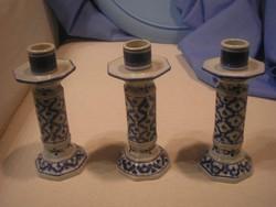 N19 Ázsiai szép állapotú porcelán gyertyatartók eladóak 14 cm-esek