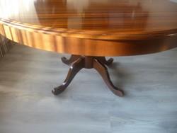 Barok póklábú SELVA kinyitható étkezőasztal 120x75cm és 170re nyitható