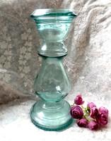 Vízzöld üveg nagy váza 30cm