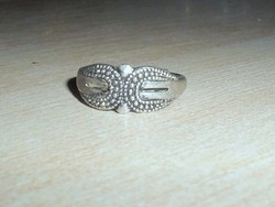 Régi Díszes mint.Tibeti ezüst kézműves gyűrű 7-es