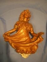 N19 Barokk Múzeumi másolat sérült óarany színű gipsz szobor restaurálandóan a ritkaságot kedvelőknek