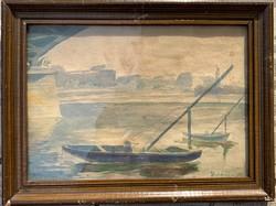 Boldizsár István - Dunai csónakok