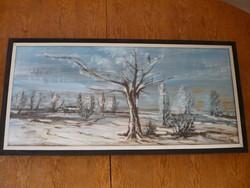 Egy téli kép a mártélyi tanyavilágról