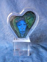 Kisslinger kristály üveg.Ritka,gyűjtői darab.Nehéz,vaskos darab.