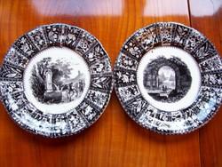 Nagyon korai Villeroy&Boch süteményes tányérok a 19. század közepéről