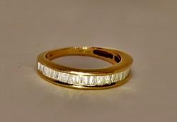 Szépséges arany karika gyűrű 0,50ct gyémánttal tanusítvánnyal
