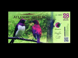 28 DOLLÁR - UNC -  ATLANTIC FOREST BANKJEGY 2016