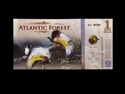 1 DOLLÁR - UNC -  ATLANTIC FOREST BANKJEGY 2015
