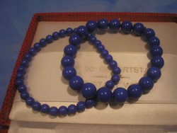 N19 sötét zafírkék gumis hibátlan karkötők  egyben eladóak 8-85 cm-es
