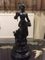 20000ft-ról! Antik bronz szobor! L.A. Moreau