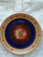 Altwien porcelán jelenetes süteményes tányér 14 cm