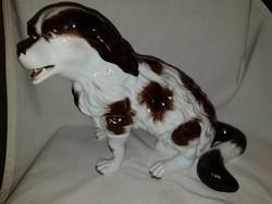 Herendi Antik Kutya Figura Ritka