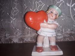 Kis lányka figúra német porcelán