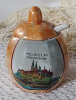 Franz Fritz Nachfolger (FFN) Grossbreitenbach mustáros Meissen Albrechtsburg motívummal