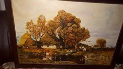 120×80cm olaj-vászon festmény.