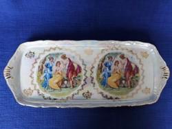 Cseh porcelán kínáló, asztalközép
