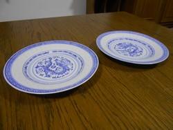 Kínai porcelán kistányér 2 db rizsszemes