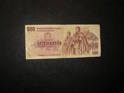 Csehszlovákia 500 korona 1973 Ritkább!