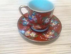 Japán gésás porcelán kávés csésze