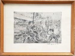 Aszódi Weil Erzsébet - 20 x 30 cm rézkarc