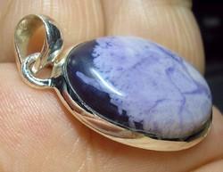 925 ezüst medál kezeletlen TIFFANY kővel