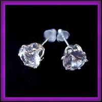 Ezüsözött  CZ kristály fülbevaló EBF-K33-1