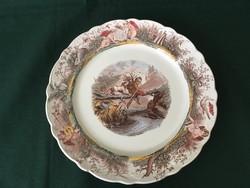"""Ritka Villeroy & Boch Wallerfangen vadászjelenetes tányér """" A vadász"""""""