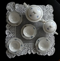 Leárazás !!!Békebeli Epiag porcelán teás készlet hajnalka dekorral 4 személyes