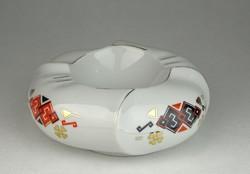 0U878 Jelzett aranyozott porcelán hamutál