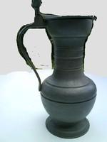 Art Deco Vintage Fedeles kupa ónból - jelzett