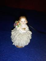 Antik  porcelán kislány  5 cm  ritkaság  5000 ft