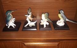 Karl ENS antik német porcelán Madár gyűjtemény 4 db