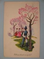Tavaszi képeslap a  - 60 -as évekből