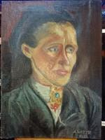 Festmény A.Weber 1937 jelzéssel