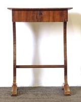 0U717 Antik Biedermeier varróasztal lerakó asztal