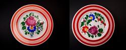 Kispest Gránit kerámia fali tányér pár