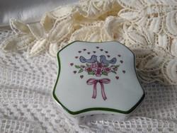 Royal Bavaria KPM madárkás porcelán ékszertartó
