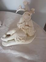 Zsolnay  szobor  fehér  6000 ft