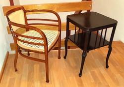 Eredeti Otto Wagner Thonet karfás szék és asztal