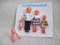 Miniatűr babacsalád vintage babák az 50/ 60-as évekből Emil Schwenk / Rödental