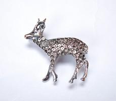 Ritka,350-es ezüst őz bross.