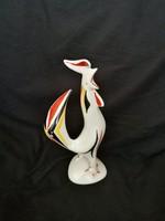 Hollóházi kakas porcelán figura